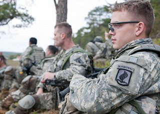Lott listening to after action review