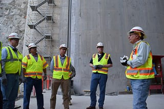 Addicks and Barker dams project team visits Folsom Dam auxiliary spillway