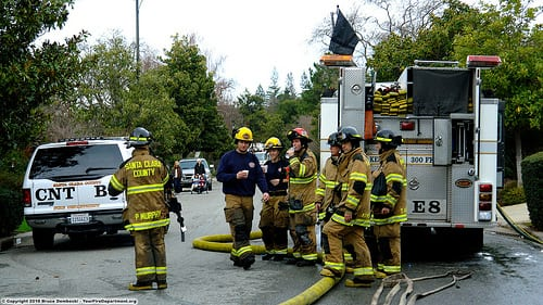 Fire crews on scene
